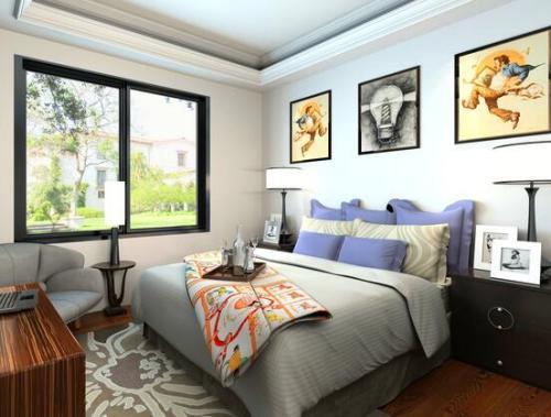 广州公寓装修新中式风格效果图