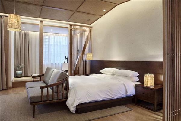 酒店墙卧室家居卧室v酒店房间背景装修现代装修600_400客房室内设计的注意事项图片