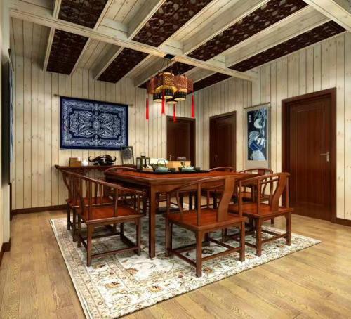 广州民宿装修复古风效果图