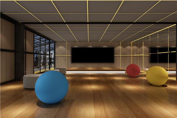 天津健身馆瑜伽房装修设计案例