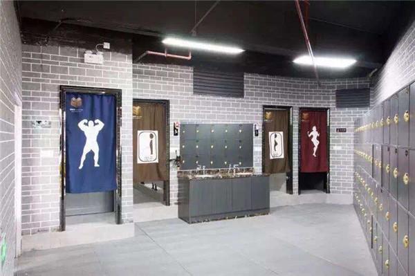 天津健身房洗浴区装修设计案例