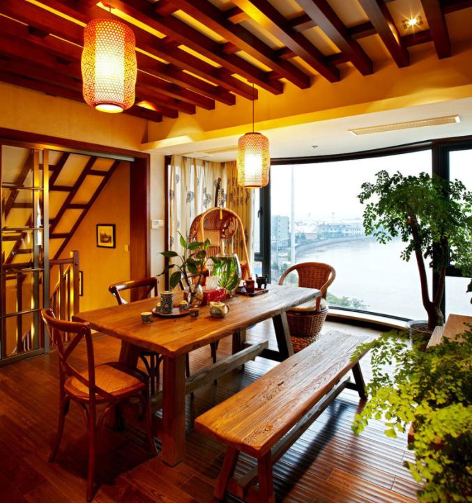 东南亚风格别墅餐厅效果图