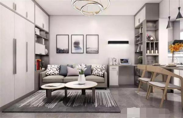 无锡单身公寓精装修报价 无锡50平单身公寓装修效果图