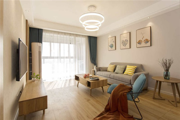 海口3房2厅1卫90平米客厅装修