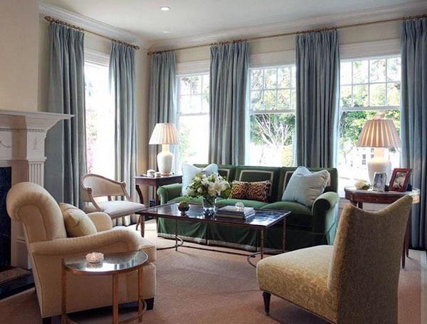 客厅适合挂什么样的窗帘
