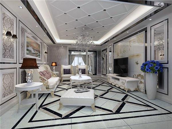 客厅地面贴什么瓷砖好