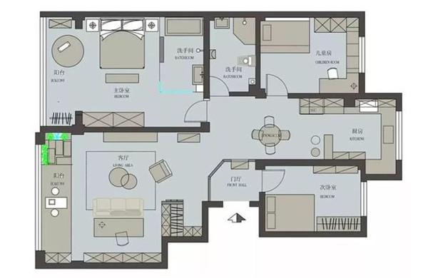 湛江金地豪苑139平米户型图