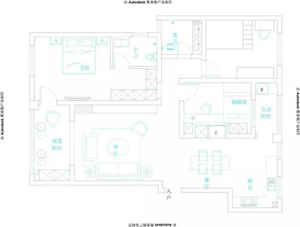 绍兴亲亲家园装修128平米户型图