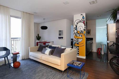 三亚公寓装修设计新中式风格