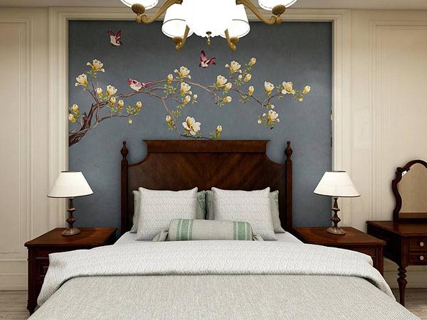 卧室贴墙布好吗