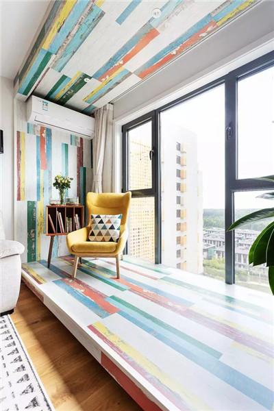 92平方小三房装修阳台图