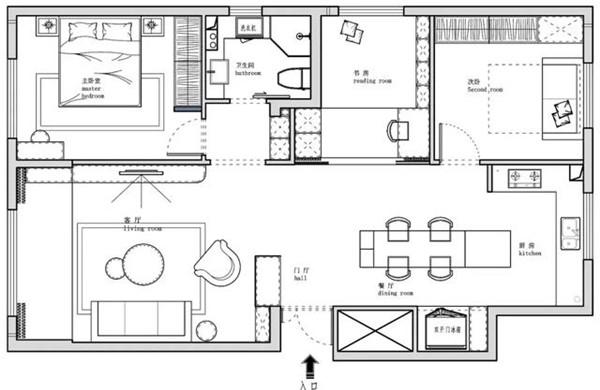 92平方小三房装修设计图