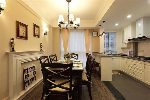 天津93平米三室两厅装修餐厨效果图