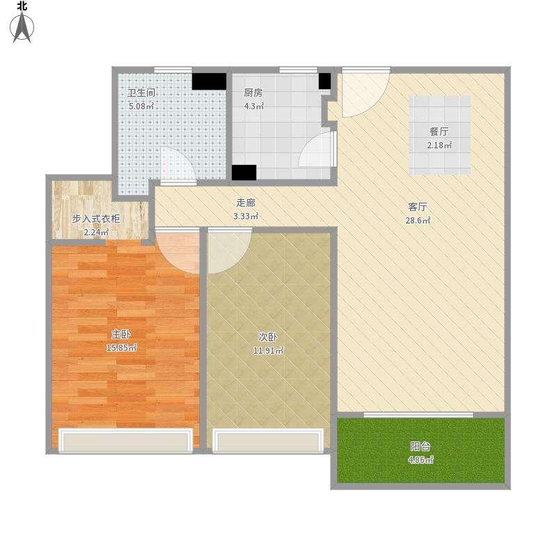 保定两室两厅装修