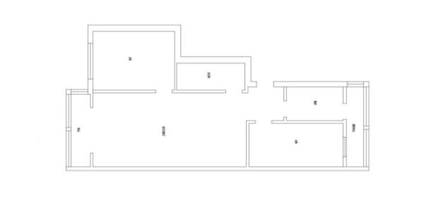 梅州两居室装修-户型图