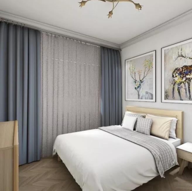 梅州两居室装修-卧室