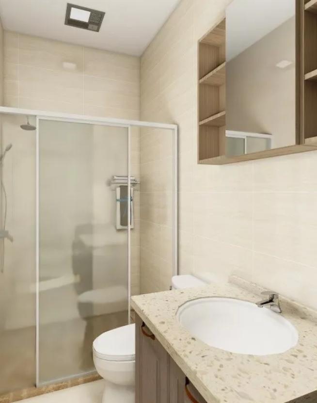 梅州两居室装修-卫生间
