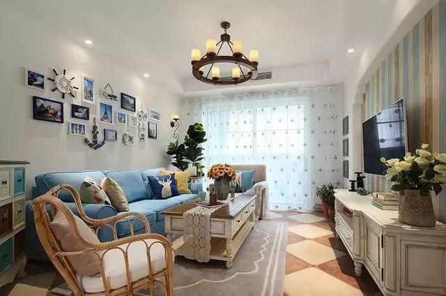 地中海风格客厅装修案例