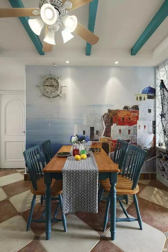 地中海风格餐厅装修案例
