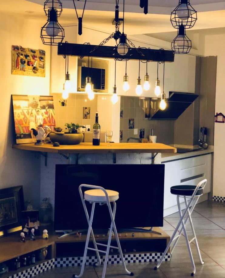 太原单身公寓装修-小吧台