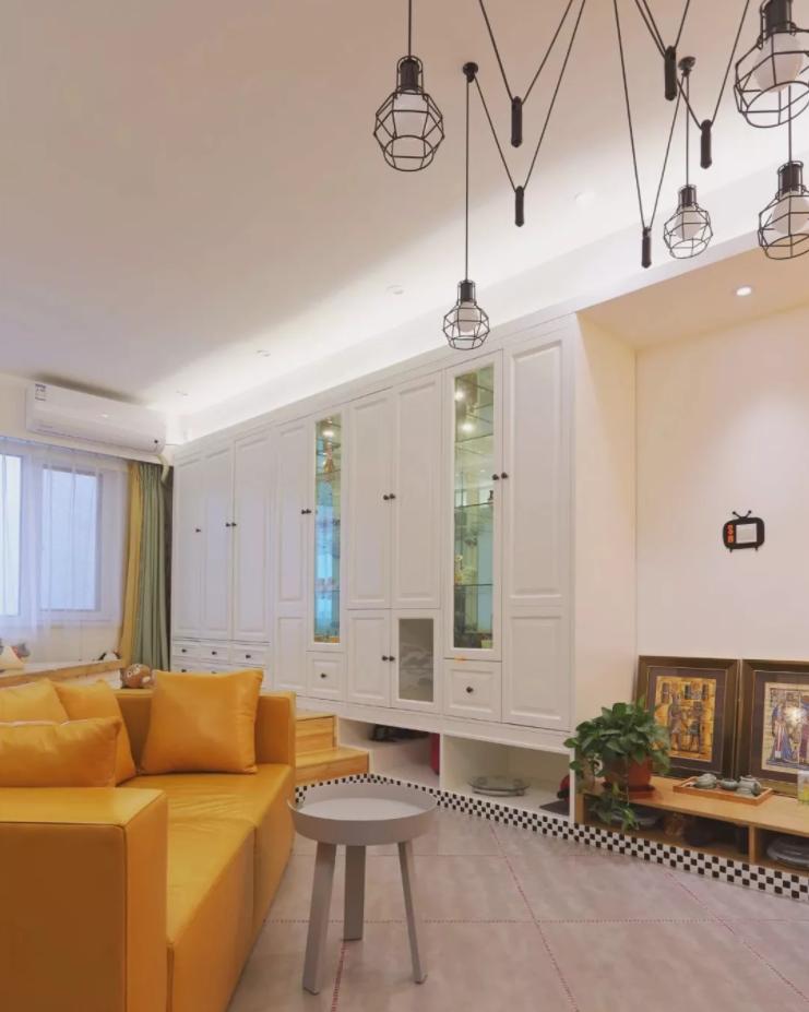 太原单身公寓装修-客厅电视柜