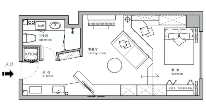 太原单身公寓装修-户型图