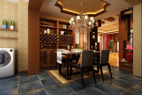 广州160平米装修设计新中式风格