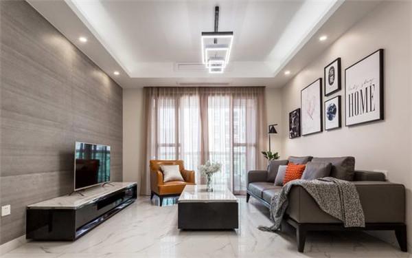 87平米二手房装修10万客厅效果图