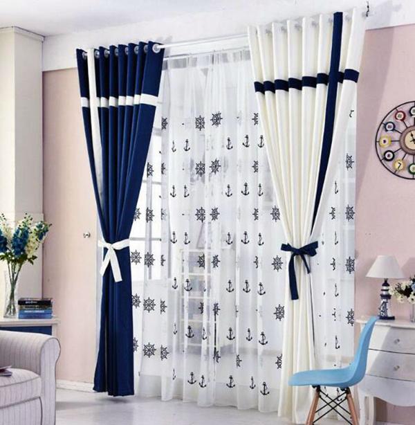 地中海风格窗帘特点及搭配