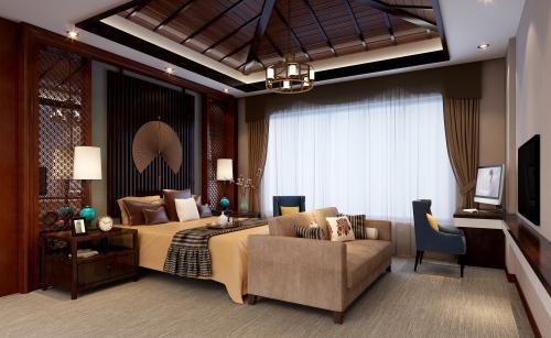 长兴民宿装修传统中式风格