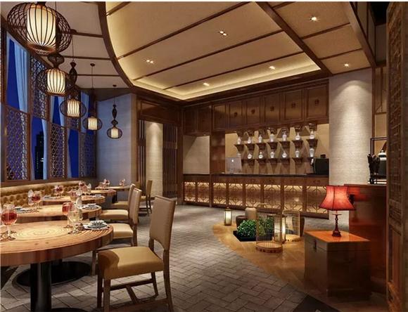 中式餐厅进门区设计