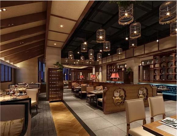 中式餐厅大厅设计