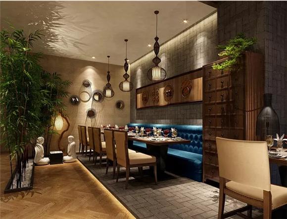 中式餐厅转角设计