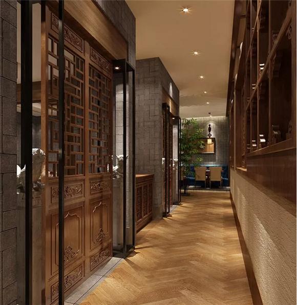 中式餐厅过道设计