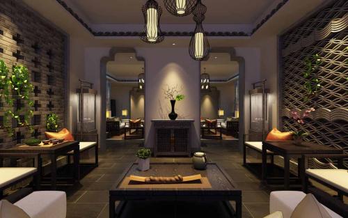 广州茶餐厅装修设计中式园林风格