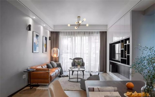128平三居室装客厅效果图