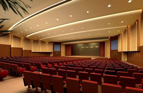 松江会议室装修古典大气风格效果图