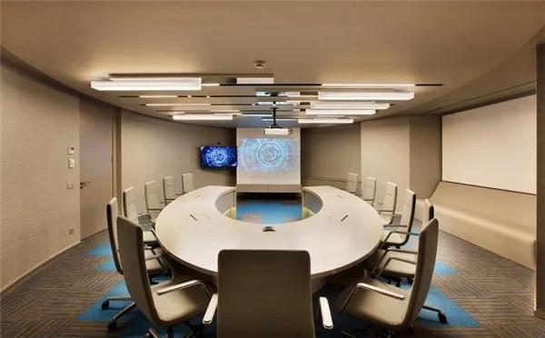 2019舟山大型会议室装修设计效果图