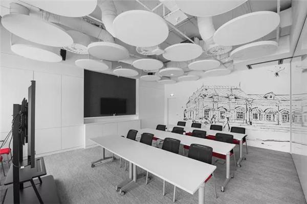 2019舟山小型会议室装修设计效果图