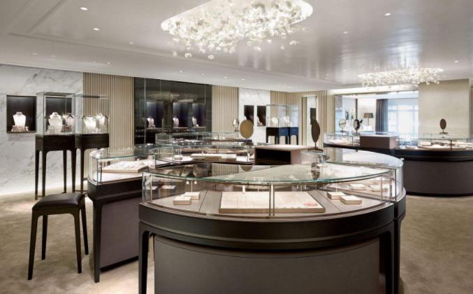 时尚最新现代风格珠宝店铺装修效果图