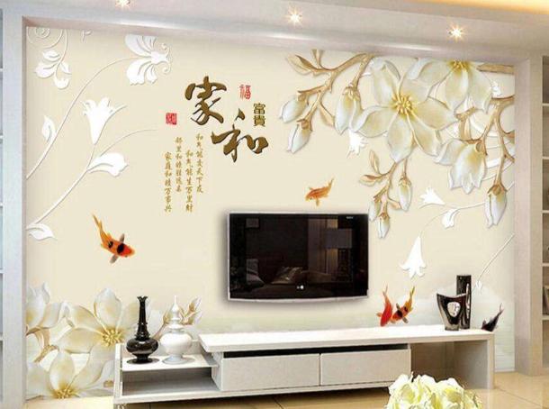 电视背景墙墙画效果图2