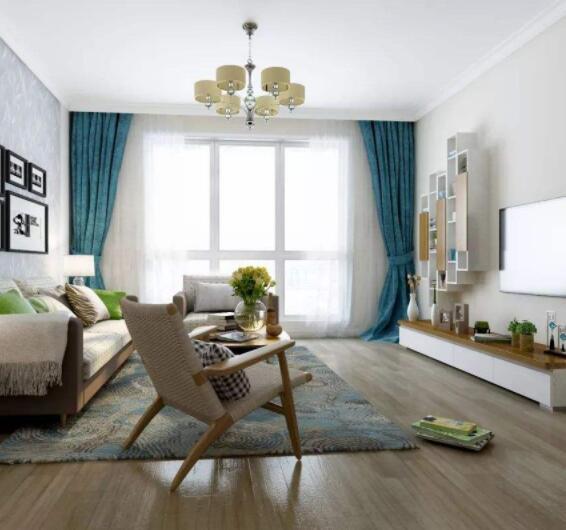 �\色地板家具搭配效果案例