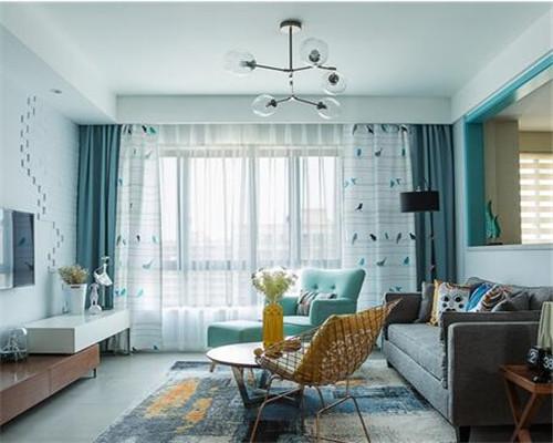 漯河120平米三居室北欧风客厅装修设计