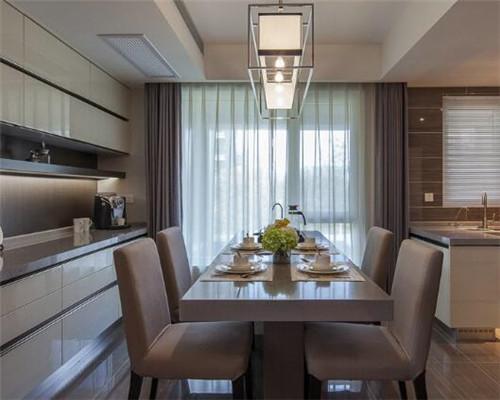 漯河100平米三居室现代简约风餐厅装修设计