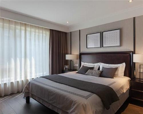 漯河100平米三居室现代简约风卧室装修设计
