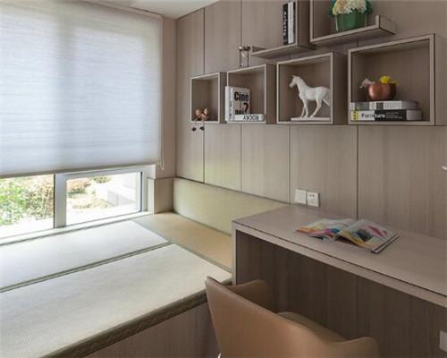 漯河100平米三居室现代简约风书房装修设计