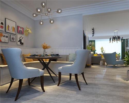 漯河95平米三居室北欧风餐厅装修设计