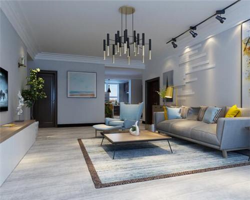 漯河95平米三居室北欧风客厅装修设计