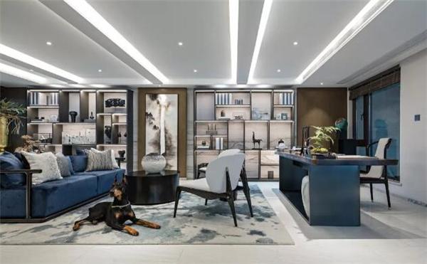 高端别墅会客厅装修设计效果图
