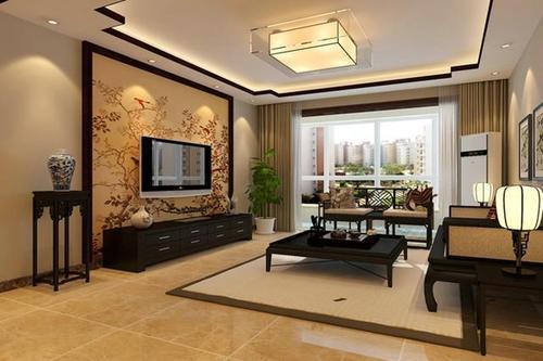 抚顺新中式客厅装修效果图